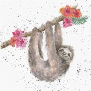 Wrendale Hanging Around Sloth Greeting Card